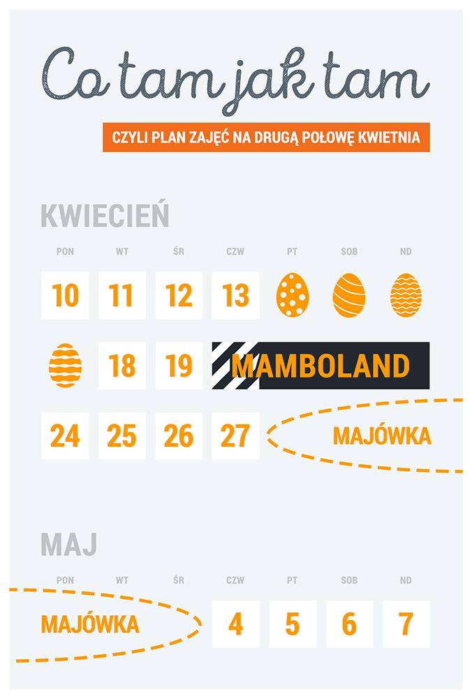 Kalendarz na Wiosnę 2017